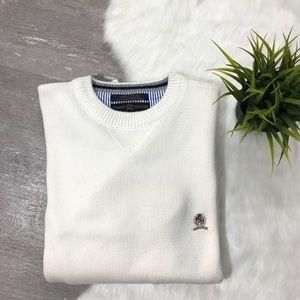 Tommy Hilfiger Men's Crewneck Sweater White